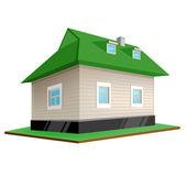 Venkovský dům. izolované na bílém pozadí — Stock vektor