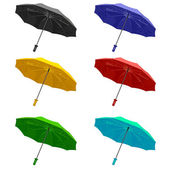 The set umbrella. Isolated on white background. — Stok Vektör