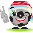 Christmas soccer ball — Vector de stock #4415683