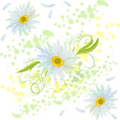 Flower seampless background texture — Stock Vector