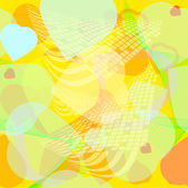 Seamless abstract background heart — Stock Vector