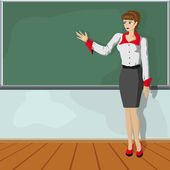 Teacher girl — Vettoriale Stock