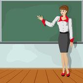 öğretmen kız — Stok Vektör