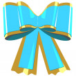 Blue bow gift — Stockvectorbeeld