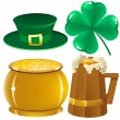 Stock Vector: Set Saint Patrick