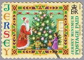 Santa Claus und Kinder — Stockfoto