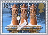 The three kings in the form of chimneys — Stock Photo