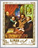 AJMAN - CIRCA 1968: postage stamp — Stock Photo