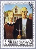 SHARJAH - CIRCA 1968: postage stamp — Stock Photo
