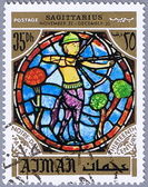 AJMAN - CIRCA 1971: postage stamp — Stock Photo