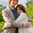 Love couple in embrace - Foto Stock