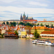 View from Charles Bridge in Prague. - Foto de Stock