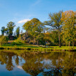 Autumn landscape on the river - Foto Stock