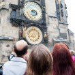 Prague. The Astronomical Clock or Prague Orloj - Stock Photo