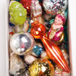 Box with antiquarian new year&#039;s toys - 