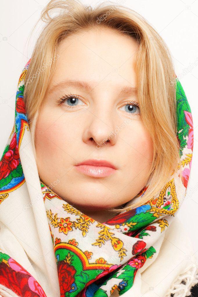 Woman Portrait Russian Women Links 105