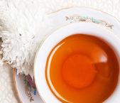 Antique porcelain tea cup — Stock Photo