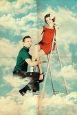 красота любовники в небе — Стоковое фото