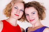 Portrait of beauty sisters — Stock Photo