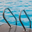 Sweeming pool steps — Stock Photo
