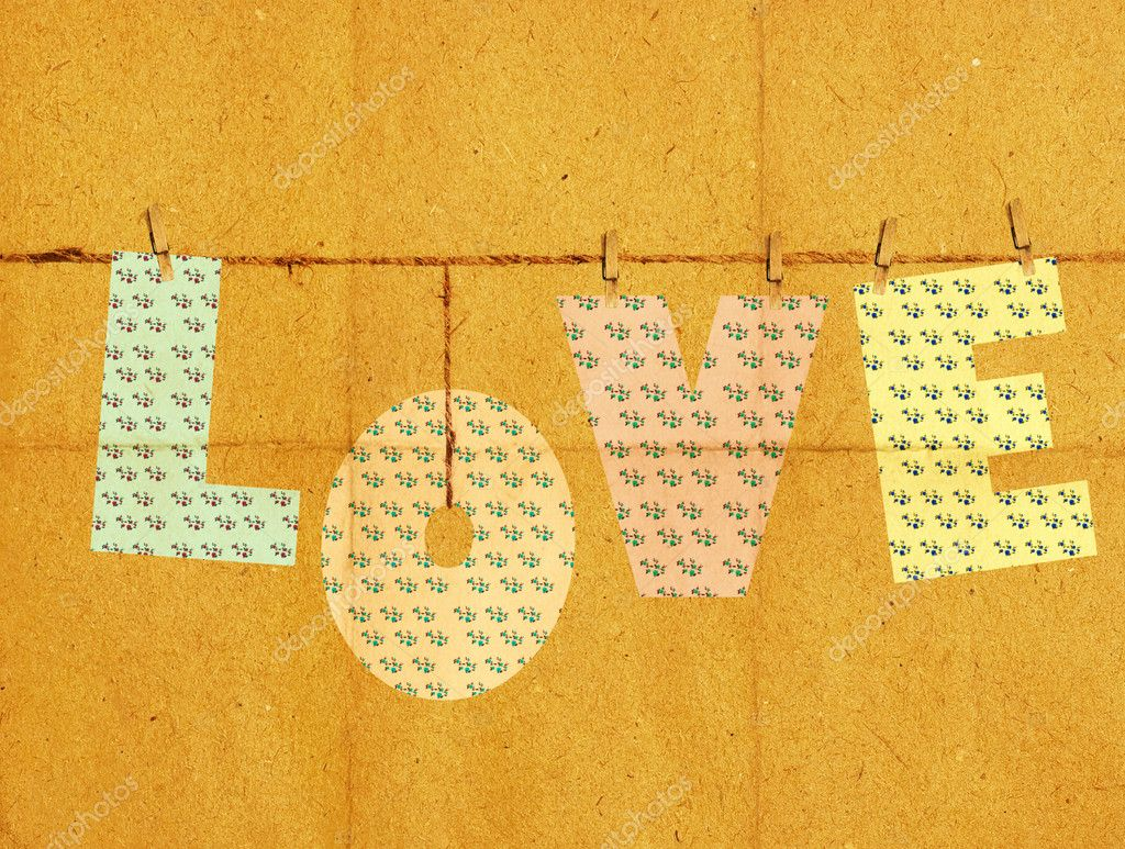 Love on vintage texture paper pattern — Stock Photo #4592900
