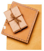 Gift from grunge paper — Stock Photo