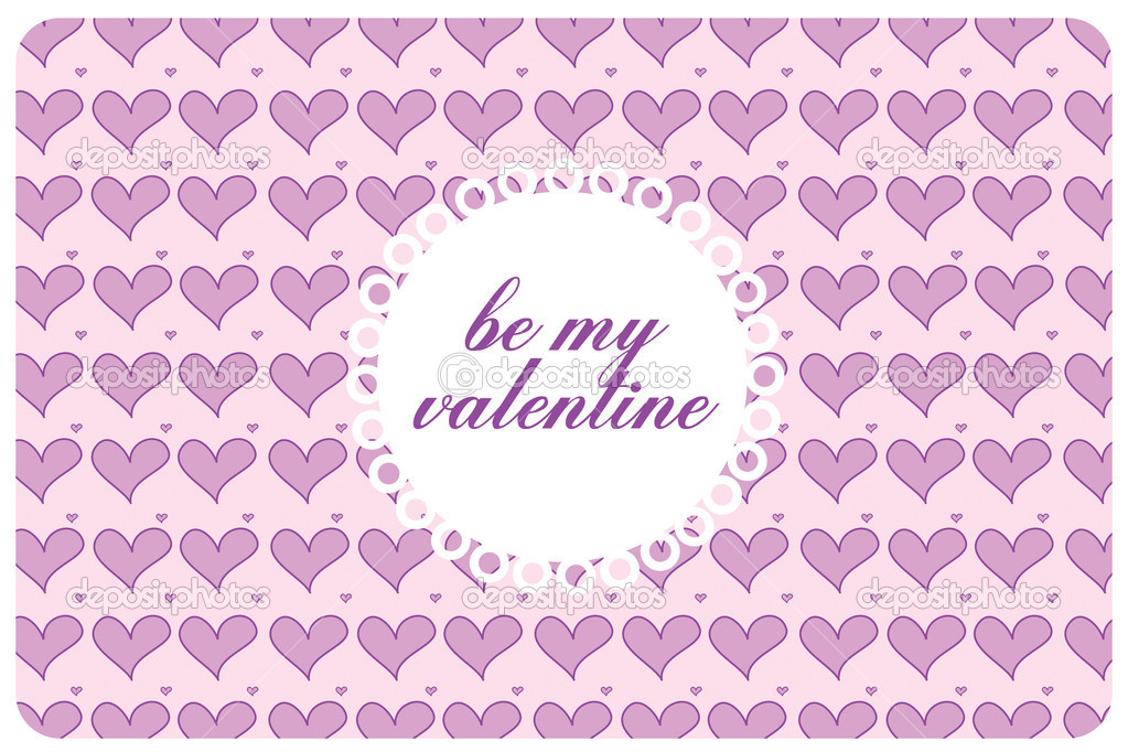 Postcard st valentine's day with pink harts  Foto Stock #4625623