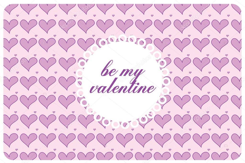 Postcard st valentine's day with pink harts — Stock Photo #4625623