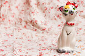 Cat figurine — Stock Photo