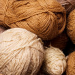 Pile of brown yarn — Stock Photo