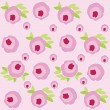 Pattern with pink roses — Foto Stock