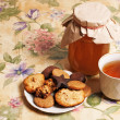 Tea with honey and cookies - Stock Photo