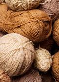 Pile of brown yarn — Stock Photo