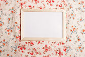 Photoframe on pattern — Stockfoto