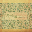 Retro greeting card design, flower pattern, vintage style — Stock Photo