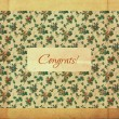Retro greeting card design, flower pattern, vintage style — Stock Photo #5276441