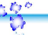 落下のパズルのピース - ベクトルの背景 — ストックベクタ