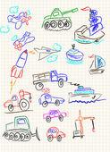 Vector elements of design stylised under children — Stock Vector