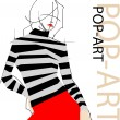 Fashion pop-art girl illustration — Stockvectorbeeld