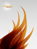 Abstract flame wave vector background — Stock Vector