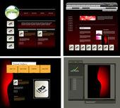 Vector websjabloon — Stockvector