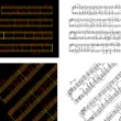 Abstract set of phonocentury the Music book with the notes writt — Stok Vektör