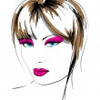 Hand-drawn fashion model. Vector illustration. — 图库矢量图片