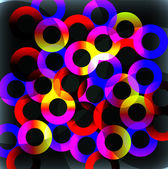Rainbow Circles — Stock Vector
