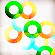 Rainbow Circles — Stock Vector