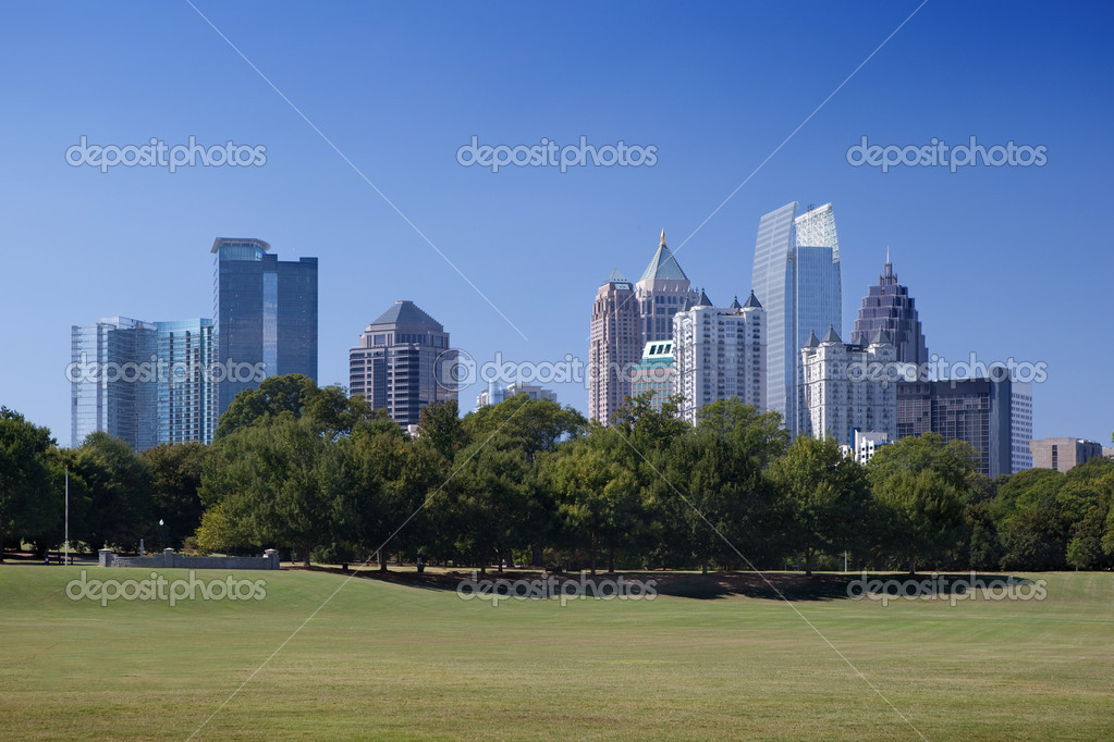Downtown Atlanta, view from Piedmont Park — Stock Photo #3982751