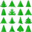 Christmas trees collection — Stock Vector #4028800