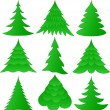 Christmas trees collection — Stock Vector #4028823