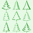 Christmas trees collection — Stock Vector #4055780