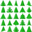 Christmas trees collection — 图库矢量图片